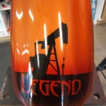 Oilfield theme paint job, with rig workers, equipment, and, of course… some pin-up girls hard at work. 3 of 7