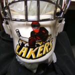 """""""Laker's goalie helmet"""""""